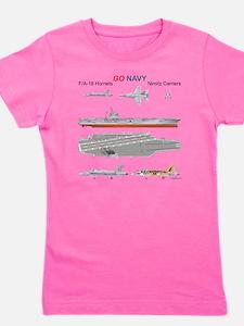 F/A-18 Hornet USS Nimitz CVN-68 Girl's Tee