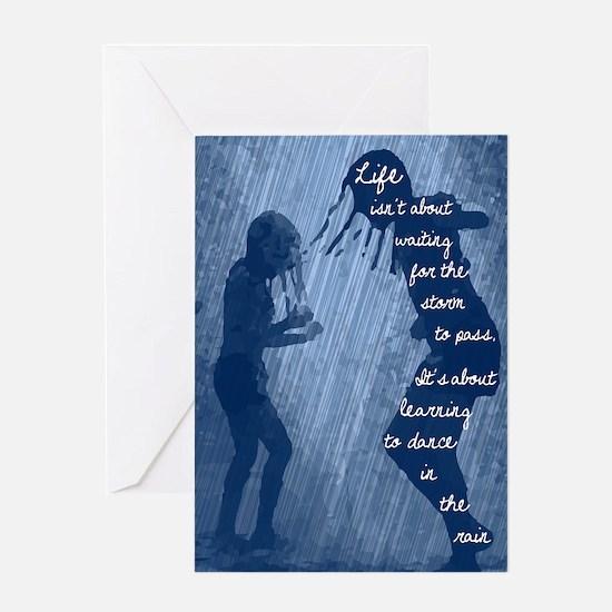 Dancing in the Rain Greeting Card