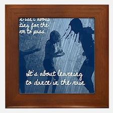 Dancing in the Rain Framed Tile