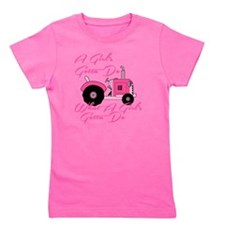 Pink Tractor Girl's Tee