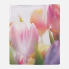 Beautiful Tulips Throw Blanket