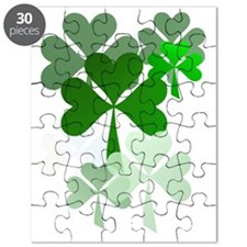Faded Shamrocks-Trans Puzzle