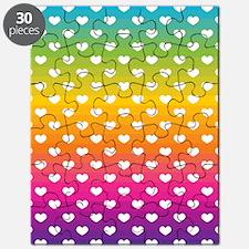 Rainbow Hearts Puzzle