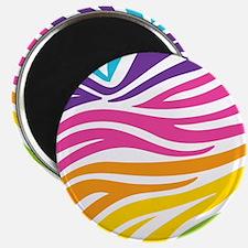 Rainbow Zebra Print Magnet