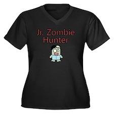 Jr. Zombie H Women's Plus Size Dark V-Neck T-Shirt