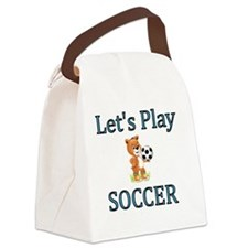 Lets Play Soccer Canvas Lunch Bag