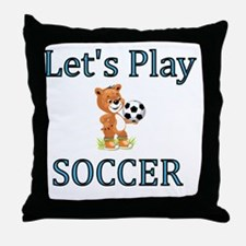 Lets Play Soccer Throw Pillow