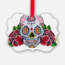 Skull and Roses Ornament