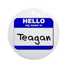 hello my name is teagan  Ornament (Round)