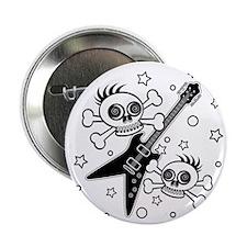 "Heavy Metal Skulls 2.25"" Button"