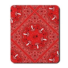 red bandana Mousepad