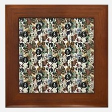 puppies and kittens Framed Tile