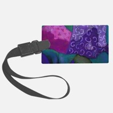 The Hideaway - Purple and Magent Luggage Tag