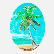 Palm Tree Oval Ornament