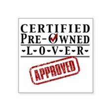"Certified Pre-Owned Lover Square Sticker 3"" x 3"""