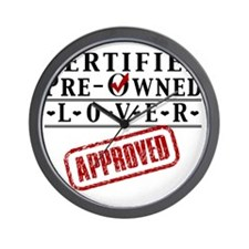 Certified Pre-Owned Lover Wall Clock