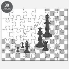 Chess King and Pieces Puzzle