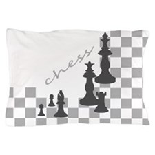 Chess King and Pieces Pillow Case
