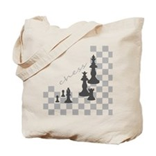 Chess King and Pieces Tote Bag
