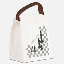 Chess King and Pieces Canvas Lunch Bag