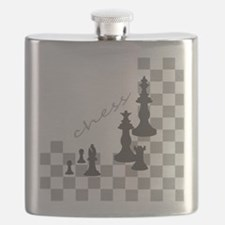 Chess King and Pieces Flask