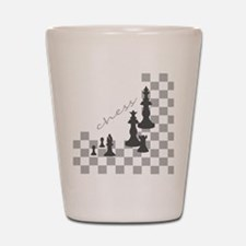 Chess King and Pieces Shot Glass