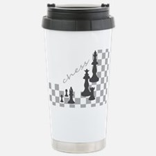 Chess King and Pieces Stainless Steel Travel Mug