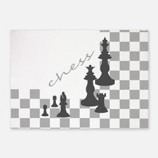 Chess King and Pieces 5'x7'Area Rug
