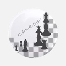 """Chess King and Pieces 3.5"""" Button"""