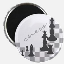 Chess King and Pieces Magnet