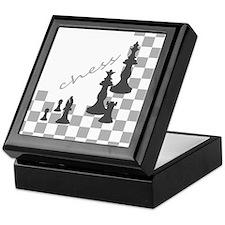 Chess King and Pieces Keepsake Box