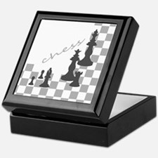 Chess King and Pieces Keepsake Box