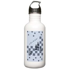 Chess King and Pieces Water Bottle