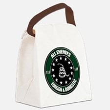 All Enemies Canvas Lunch Bag