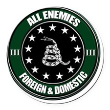 All Enemies Round Car Magnet