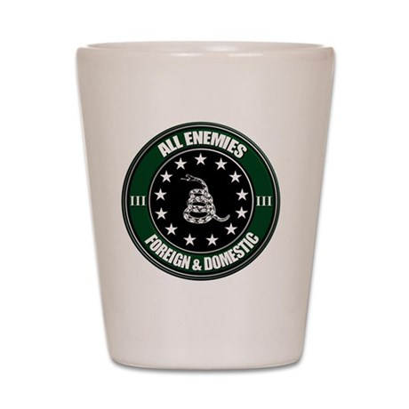 All Enemies Shot Glass