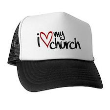 I love my church heart. Trucker Hat