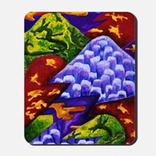 Dragonland - Green Dragons  Blue Ice Mou Mousepad