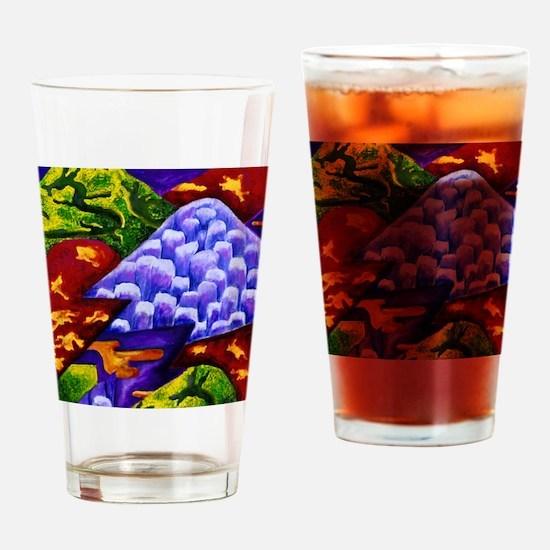 Dragonland - Green Dragons  Blue Ic Drinking Glass