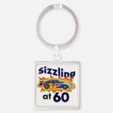 60 Sizzler Hot Rod Square Keychain