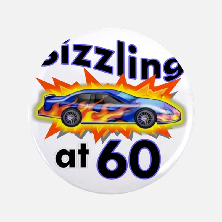"""60 Sizzler Hot Rod 3.5"""" Button"""