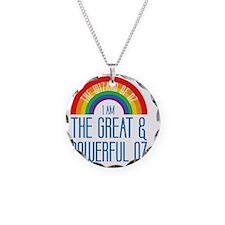 I am Oz Necklace Circle Charm