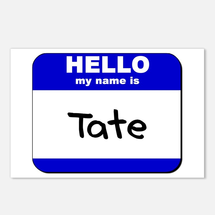 hello my name is tate  Postcards (Package of 8)