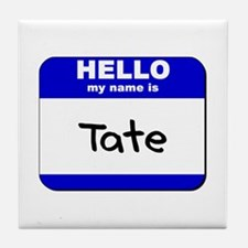 hello my name is tate  Tile Coaster