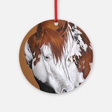 overo stallion Round Ornament