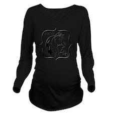 Navy LDO Long Sleeve Maternity T-Shirt