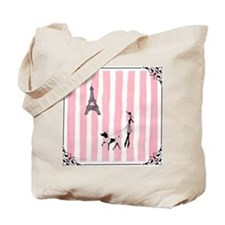 A walk in Paris Pink Tote Bag