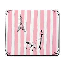 A walk in Paris Pink Mousepad