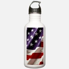 American Flag Sports Water Bottle