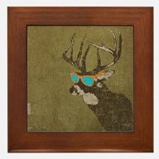 Cool Deer Framed Tile